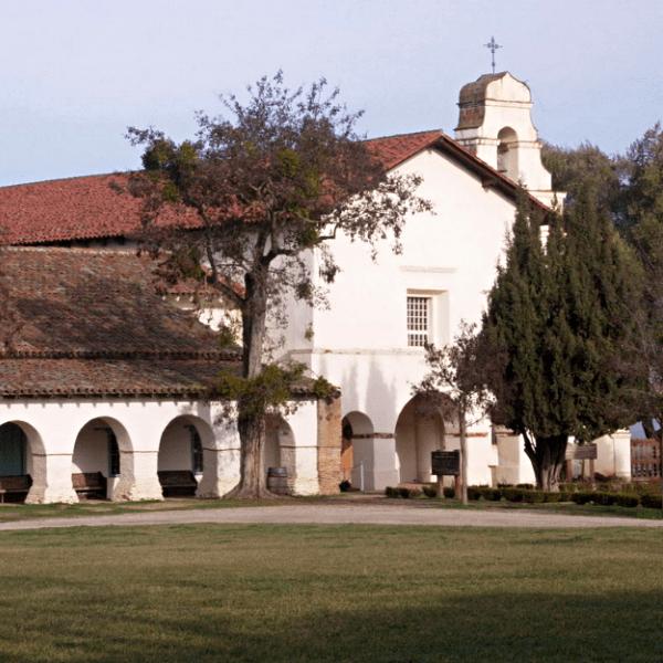 Local attraction Mission San Juan Bautista in San Benito County